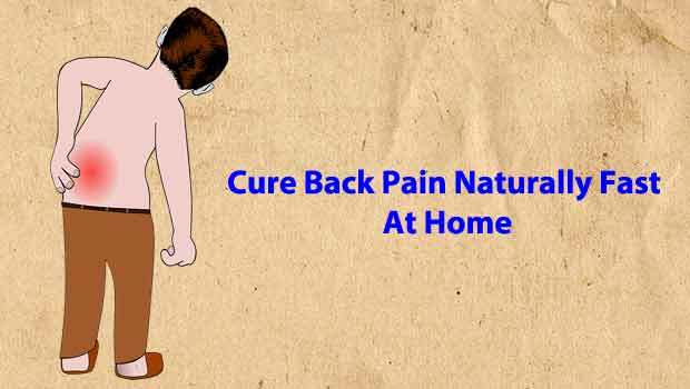 cure back naturally at home